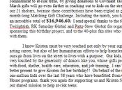 remerciements Covenant House, pour fans Kristen Stewart