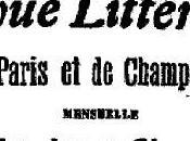 Enquête Tendances littérature. 1906.