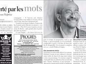 poète Lenous Suprice obtient article presse dans l'hebdomadaire Progrès Villeray 2011)