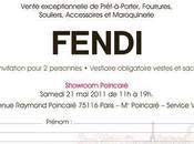 Invitation vente privée Fendi samedi 2011