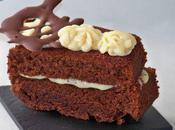 Gâteau chocolat ganache blanc fève Tonka