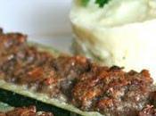 Courgettes farcies express viande parmesan