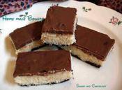 Barres noix coco chocolat
