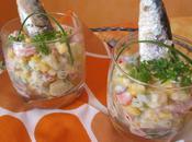 verrines légères sardines