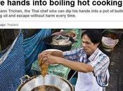 plonge mains dans l'huile bouillante ressort indemne