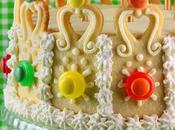 Gâteau d'anniversaire royal pour casserole carrée