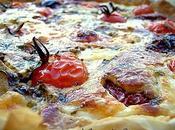 Tarte Tomates cerises confites,Tapenade,Artichauts Mozzarella