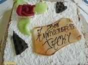 mille-feuilles gâteau d'anniversaire