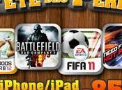 Promotion nombreux jeux Electronic Arts pour iPad iPhone