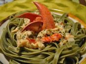 Fettuccine, sauce crémeuse homard