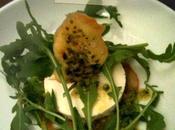 Panna cotta basilic (agar agar), tuile pesto pistaches