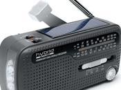 Muse MH-07 radio portative avec batterie rechargeable énergie solaire dynamo