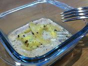Ravioles ricotta basilic, bouillon crémeux l'olive noire (Cooking Chef)