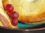 Petits gâteaux fromage blanc & chèvre, rhubarbe polenta
