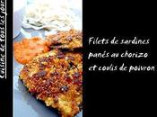 Filets sardines panés chorizo coulis poivron