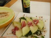 melon canari lichettes jambon italien