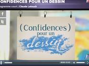suis illustré dessin imaginé Claude Lelouch dans l'émission confidences pour Canson…