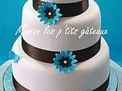 Wedding cake turquoise marron