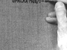 Roman Opalka s'est arrêté compter