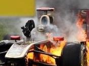 Gros incendie Lotus Renault Heidfeld Hongrie