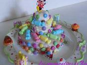 Gâteau d'anniversaire très girly génoise simplissime