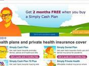 site Simplyhealth, exemple d'efficacité graphique