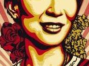 Lady, affiche graphique, façon Obey Giant's Style