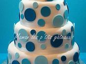 Wedding cake pois bleu