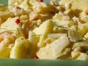 Salade d'endive truite fumée, pomme aneth