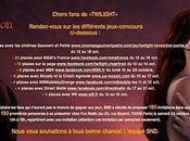 Détails jeux-concours pour gagner rencontre avec Robert Pattinson Ashley Greene