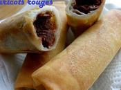 Rouleaux printemps pâte haricots rouges 红豆沙春卷 hóng chūn juǎn