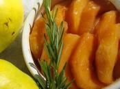 Coings rôtis miel romarin