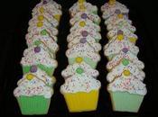 Biscuits décorés forme cupcake