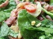 Salade hivernale d'épinards lardons