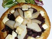 feuilleté d'oignons, poire feta