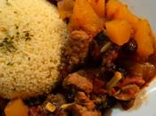 Tajine veau courge fruits secs