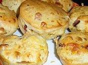 Muffins lardons, oignons, fromage