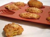 Madeleines épicées cheddar polenta