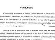 L'Elysée, l'orthographe Danielle Mitterrand croisement incompatibilités