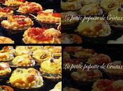 Minis pizzas minis quiches chevre