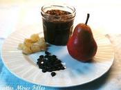 recette Epices Confiture poire gingembre chocolat