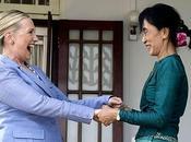 Aung Kyi, Hillary Clinton microfinance