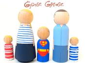 goose grease cute wooden dolls collection