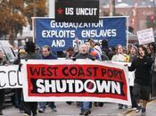 indignés occupent conjointement ports Pacifique États-Unis Canada.