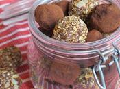 bocaux Noël Truffes chocolat amandes
