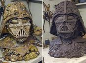 buste Dark Vador réalisé partir vieux couverts