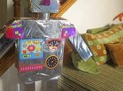 Zoom buffet d'anniversaire Robot
