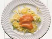 Salade pommes Charlotte saumon vinaigrette cerfeuil
