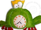 Horloge doudou grenouille prince