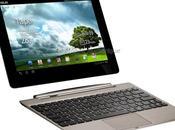Test tablette tactile Asus Transformer Prime TF201 sous Android Cream Sandwich clavier